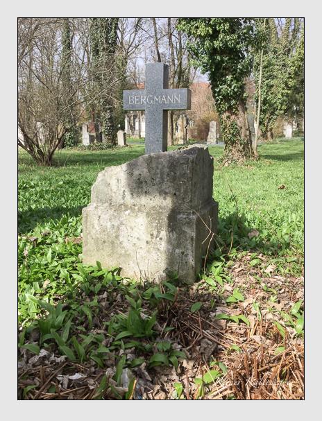 Grab der Familien Arter & Bergmann auf dem Alten Südfriedhof München (April 2018)
