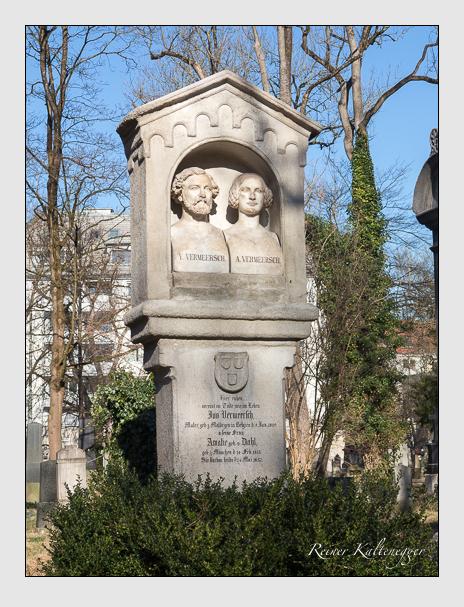 Grab der Familie Vermeersch auf dem Alten Südfriedhof München (März 2019)
