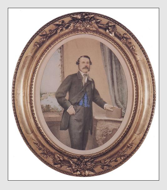 Alois Löcherer: Selbstportrait (Kolorierte Talbotypie)