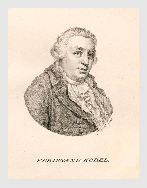 Ferdinand Kobell. Abbildung aus »Deutsche Künstler-Gallerie von Max Franck«; München, 1818.