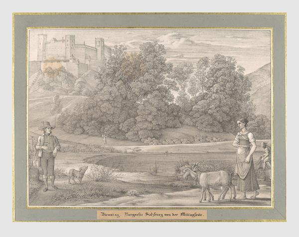 Ferdinand von Olivier: Abbildung aus »Sieben Gegenden aus Salzburg und Berchtesgaden.« 1823.