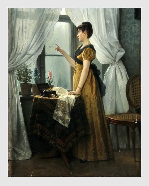 Robert Julius Beyschlag: Frau am Fenster.