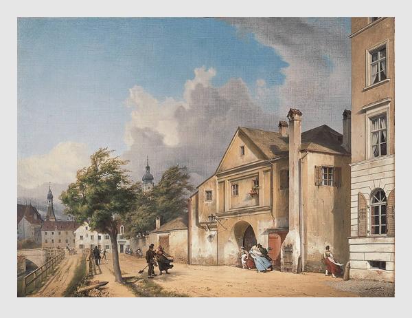 Michael Neher: Das ehemalige Einlasstor in München. 1842. Bayerische Staatsgemäldesammlungen – Neue Pinakothek München.