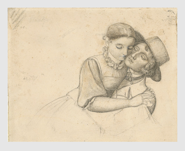 Julius Oldach: Die Mutter Catharina Maria Oldach. 1824.