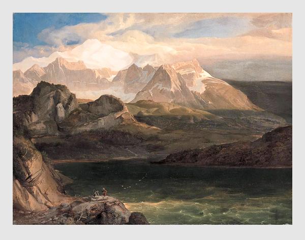 Karl Rottmann: Der Eibsee bei Partenkirchen (1825). Bayerische Staatsgemäldesammlungen – Neue Pinakothek München.
