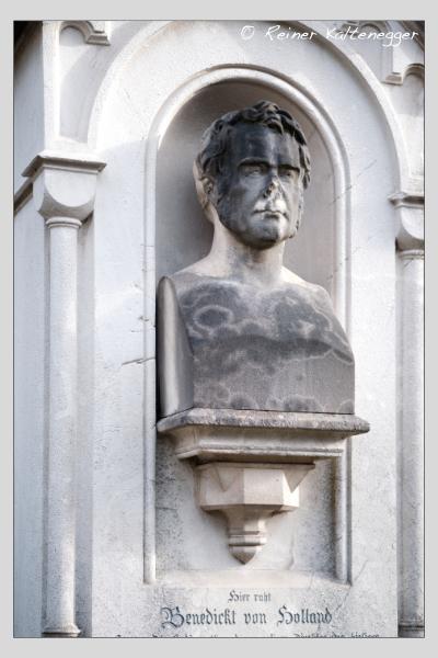 Grab der Familie Holland auf dem Alten Südfriedhof München (Februar 2021)