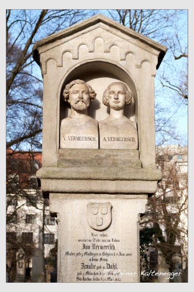 Grab der Familie Vermeersch auf dem Alten Südfriedhof München (Februar 2021)