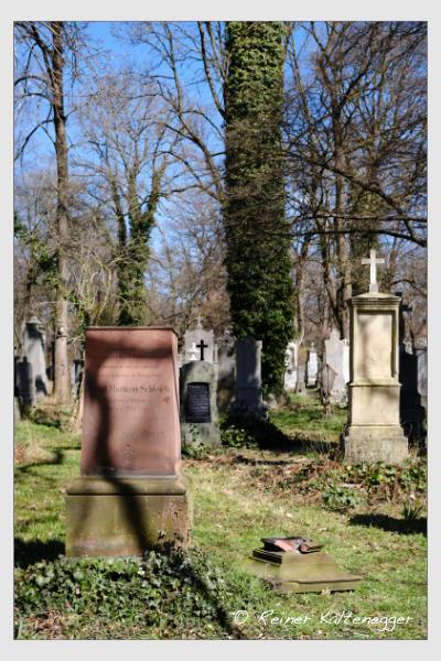 Grab der Familie Schleich auf dem Alten Südfriedhof München (29. März 2021)