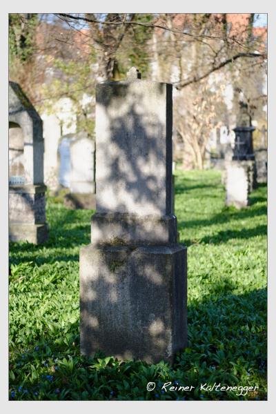 Grab der Familie Wenger auf dem Alten Südfriedhof München (März 2021)