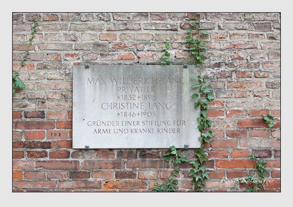 Grab der Familien Lang · Wilderich-Lang auf dem Alten Südfriedhof München (Oktober 2007)