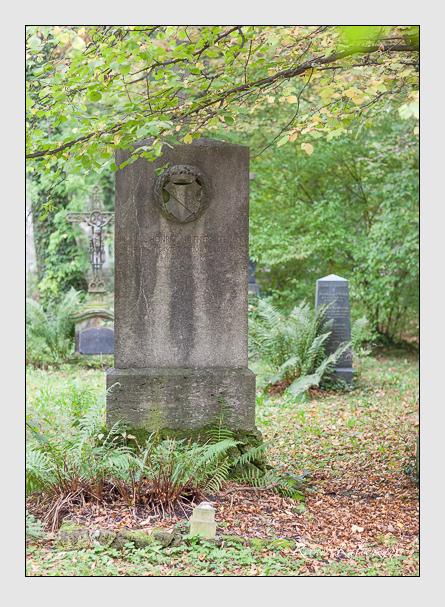 Grab der Familie Hefner-Alteneck auf dem Alten Südfriedhof München (Oktober 2007)