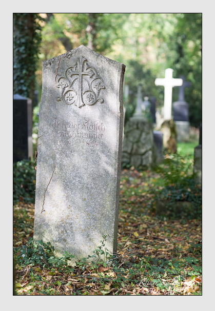 Grab der Familie Kotsch auf dem Alten Südfriedhof München (Oktober 2007)