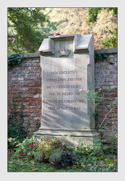 Grab der Familie Utzschneider auf dem Alten Südfriedhof München (Oktober 2007)