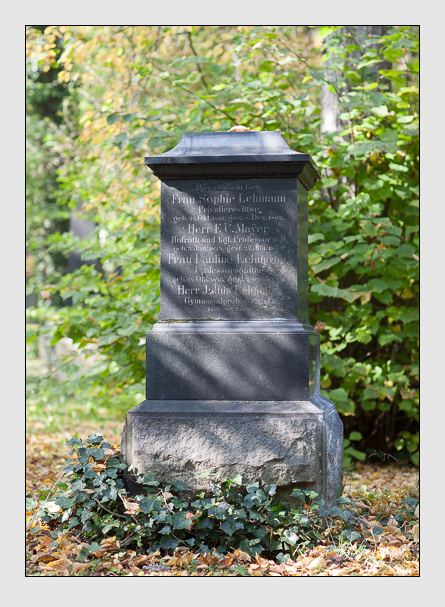Grab der Familien Lehmann & Mayer auf dem Alten Südfriedhof München (Oktober 2007)