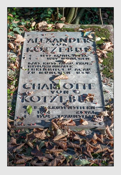 Grab der Familie Kotzebue auf dem Alten Südfriedhof München (Oktober 2007)