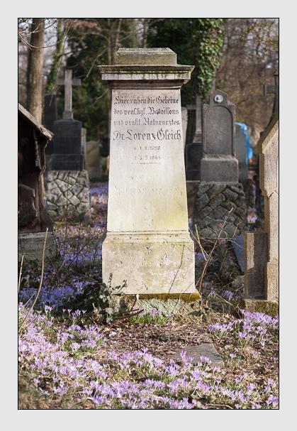 Grab der Familie Gleich auf dem Alten Südfriedhof München (Februar 2008)