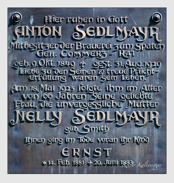 Grab der Familie Sedlmayr auf dem Alten Südfriedhof München (August 2011)
