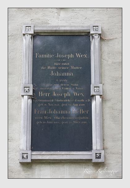Grab der Familien Keller & Wex auf dem Alten Südfriedhof München (September 2011)