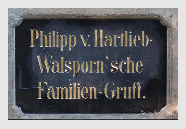 Grab der Familien Chur & Hartlieb-Walsporn auf dem Alten Südfriedhof München (September 2011)