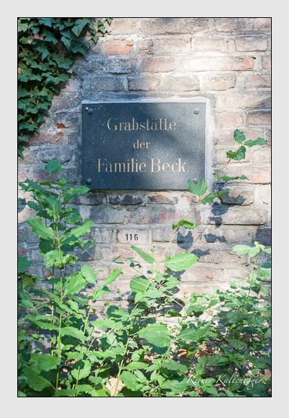Grab der Familie Beck auf dem Alten Südfriedhof München (September 2011)