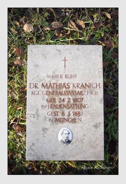 Grab der Familie Kranich auf dem Alten Südfriedhof München (Dezember 2012)