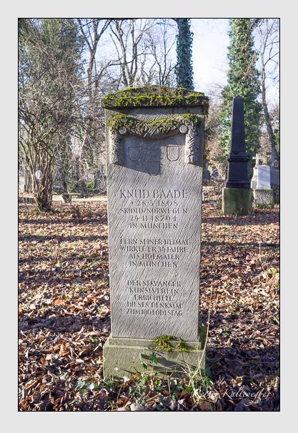 Grab der Familie Baade auf dem Alten Südfriedhof München (Dezember 2012)