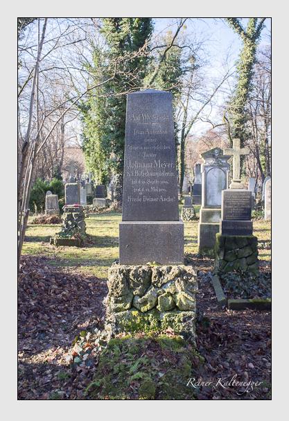 Grab der Familie Meyer auf dem Alten Südfriedhof München (Dezember 2012)