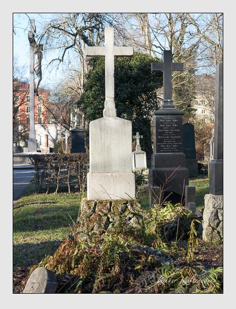 Grab der Familie Dengler auf dem Alten Südfriedhof München (Dezember 2013)