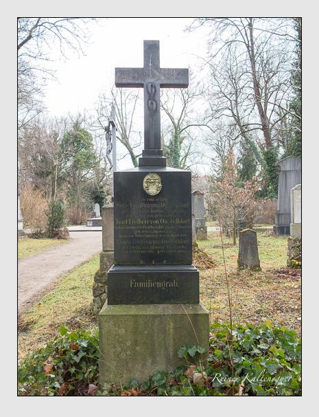 Grab der Familie Ow-Felldorf auf dem Alten Südfriedhof München (Januar 2014)