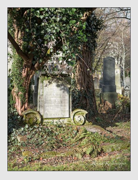 Grab der Familie Kronenbitter auf dem Alten Südfriedhof München (Januar 2014)