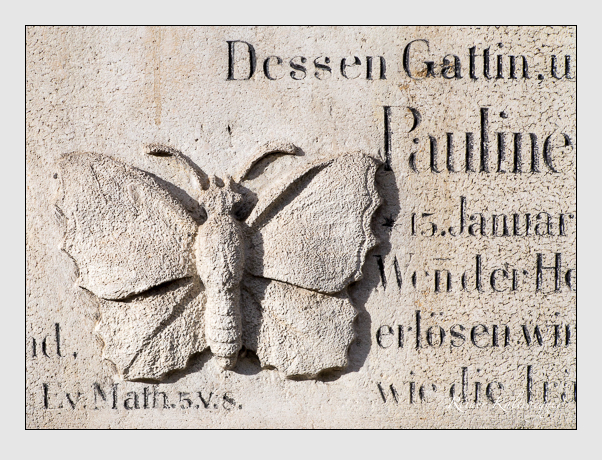 Grab der Familien Hacker · Podlech · Thiersch auf dem Alten Südfriedhof München (Januar 2014)