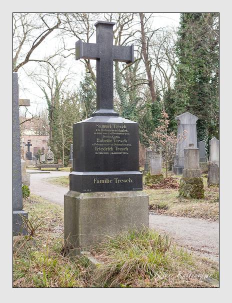 Grab der Familie Tresch auf dem Alten Südfriedhof München (Februar 2014)