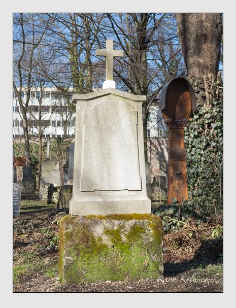 Grab der Familie Rautner auf dem Alten Südfriedhof München (Februar 2014)