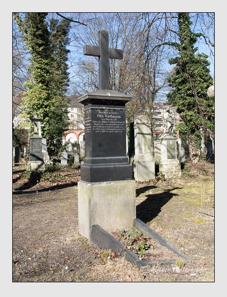 Grab der Familie Wirthmann auf dem Alten Südfriedhof München (Februar 2014)
