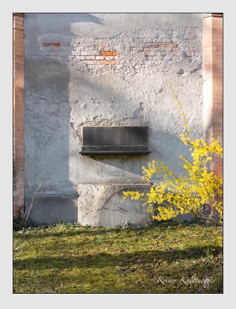 Grab der Familie Widermann auf dem Alten Südfriedhof München (März 2014)