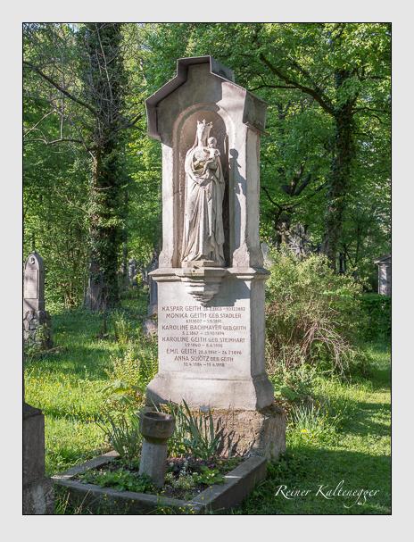 Grab der Familien Bachmayer · Geith · Schötz auf dem Alten Südfriedhof München (April 2014)