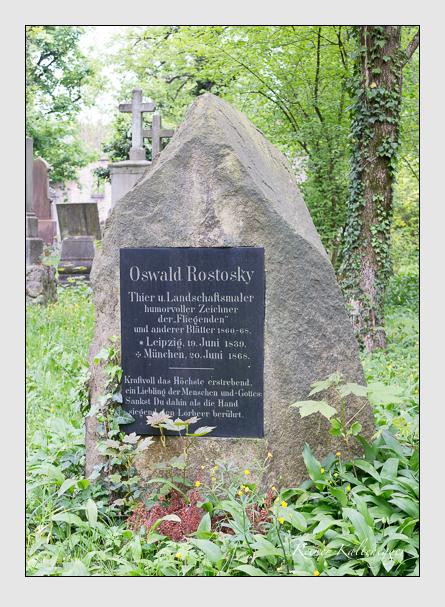 Grab der Familie Rostosky auf dem Alten Südfriedhof München (April 2014)
