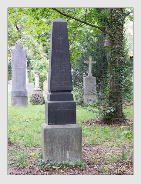 Grab der Familien Hoffmann & Müller auf dem Alten Südfriedhof München (August 2014)