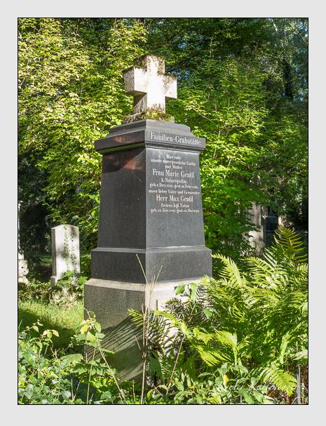 Grab der Familie Gentil auf dem Alten Südfriedhof München (September 2014)