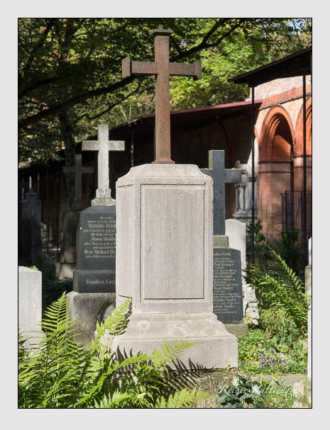 Grab der Familie Pountney auf dem Alten Südfriedhof München (Oktober 2014)