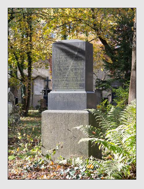 Grab der Familien Andrée & Haumann & Netzsch auf dem Alten Südfriedhof München (November 2014)