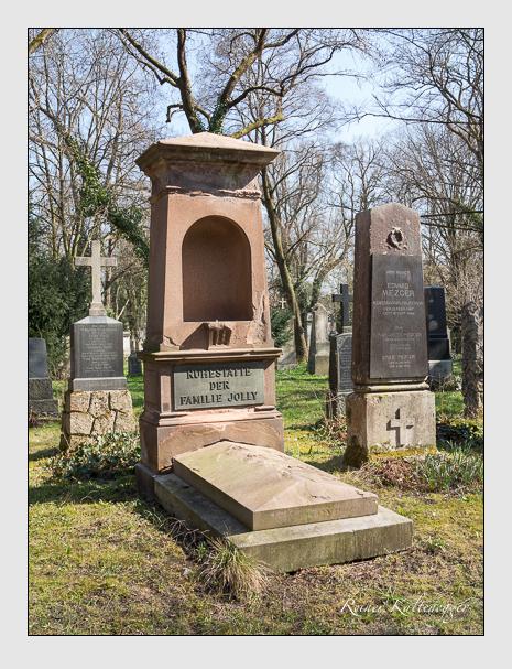 Grab der Familie Jolly auf dem Alten Südfriedhof München (April 2015)