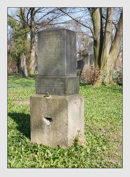 Grab der Familie Zitt auf dem Alten Südfriedhof München (April 2015)