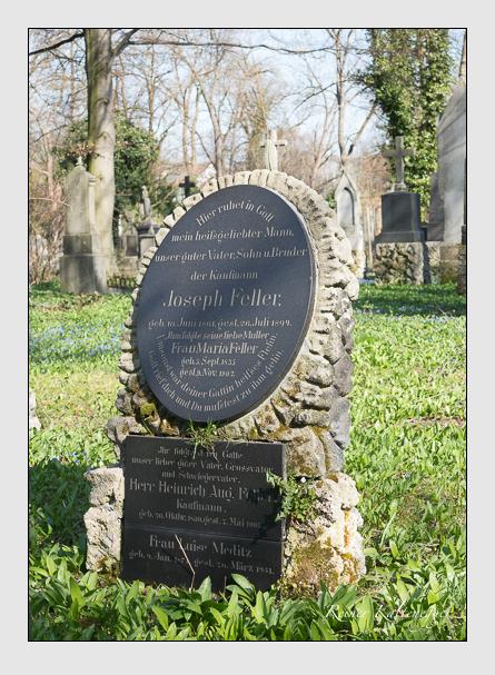 Grab der Familien Feller & Kreis & Meditz auf dem Alten Südfriedhof München (April 2015)