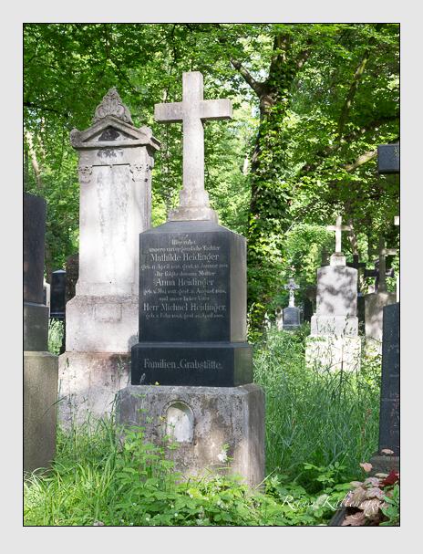 Grab der Familie Heidinger auf dem Alten Südfriedhof München (Mai 2015)