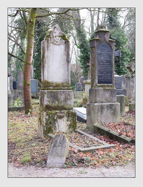 Grab der Familie Herrmann auf dem Alten Südfriedhof München (Dezember 2015)