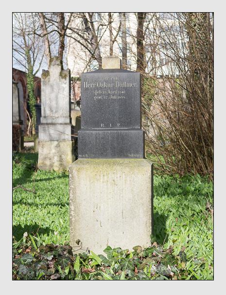 Grab der Familie Dallmer auf dem Alten Südfriedhof München (März 2016)
