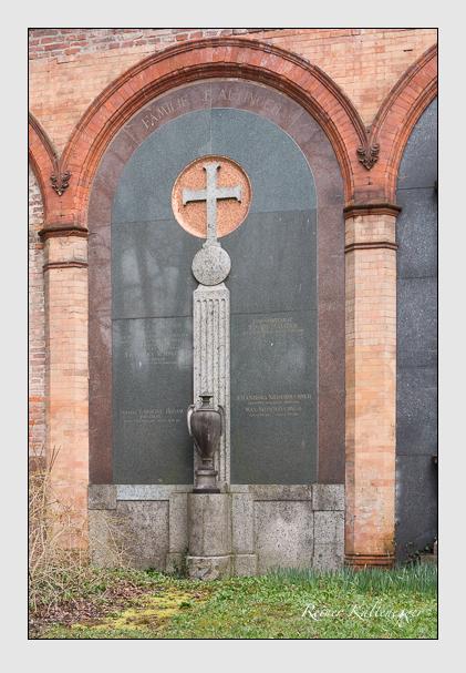 Grab der Familien Altinger & Braam & Bader & Niederbuchner auf dem Alten Südfriedhof München (März 2016)