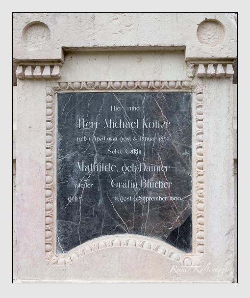 Grab der Familien Blücher & Koller auf dem Alten Südfriedhof München (März 2016)