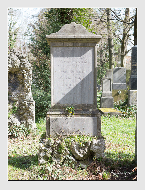 Grab der Familien Reichenbach · Wachinger auf dem Alten Südfriedhof München (April 2016)